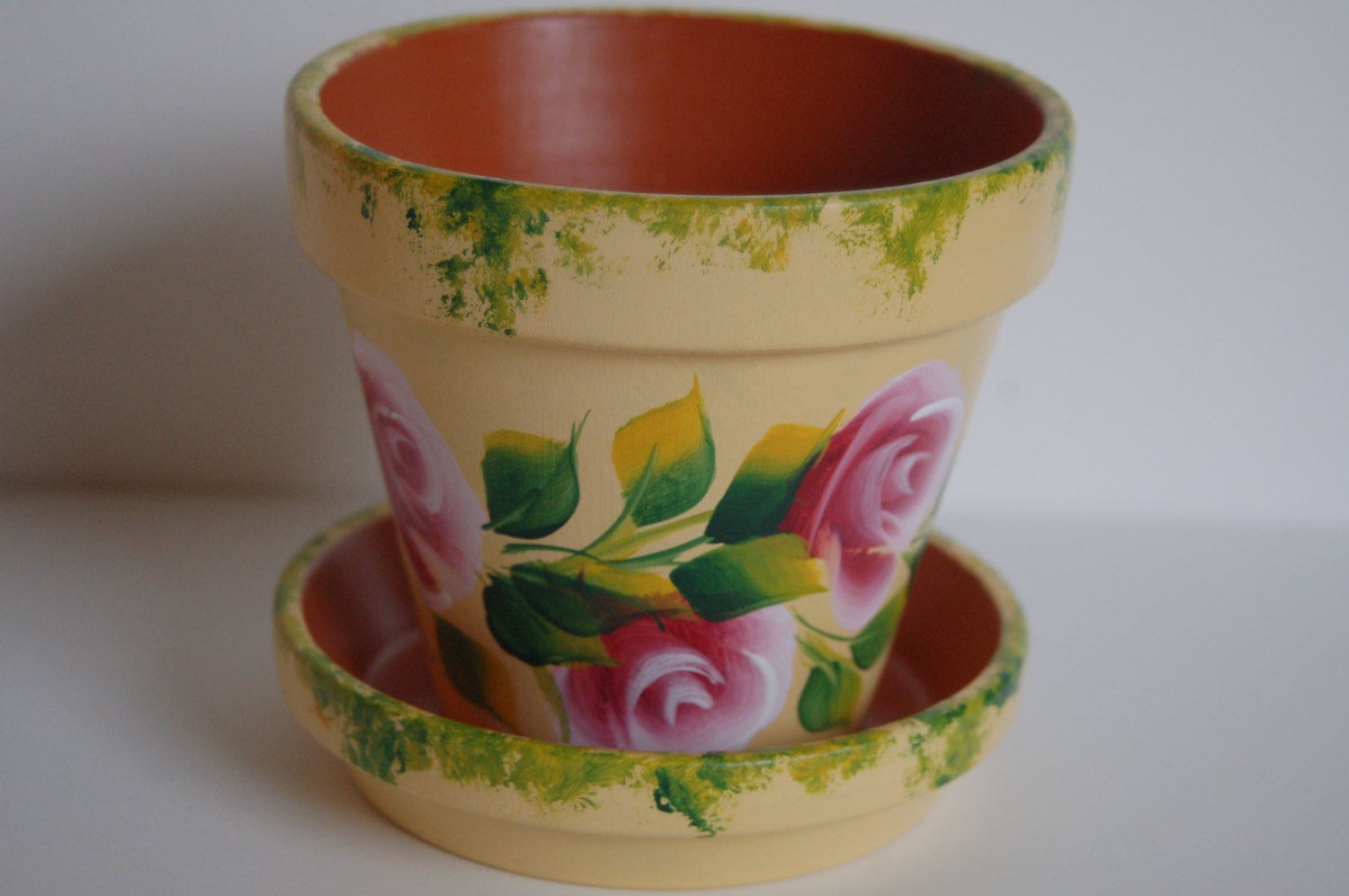 Hand painted clay pots designs the for Big pot painting designs